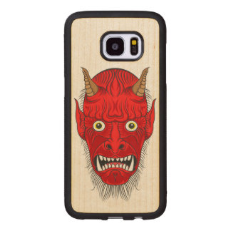 Artistic Demon Head Wood Samsung Galaxy S7 Edge Case