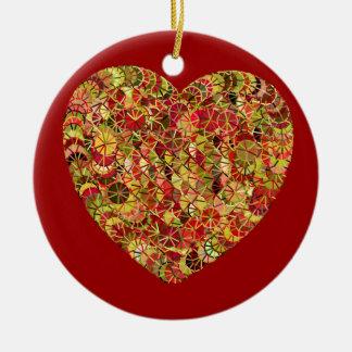 Artistic design heart illustration christmas ornaments