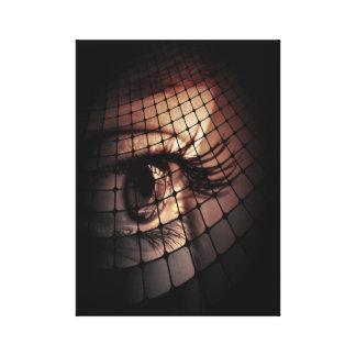 Artistic digital art eye design stretched canvas print