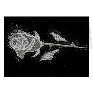 Artistic Distressed Art Rose Bud Card