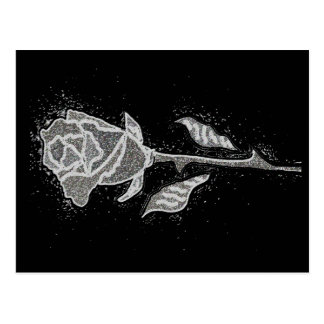 Artistic Distressed Art Rose Bud Postcard