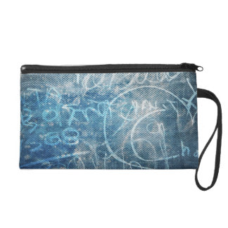 Artistic Doodle Drawing - Abstract Sketch Art Wristlet Clutch