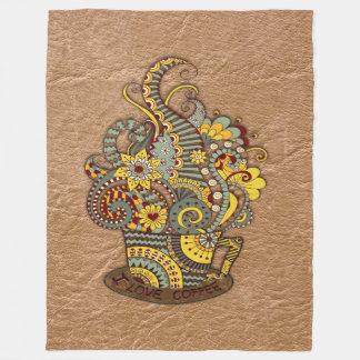 Artistic-doodle-drawing art fleece blanket
