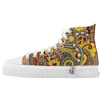Artistic-doodle-drawing art high tops