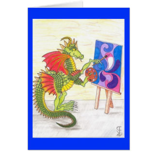 Artistic Dragon All-Occasion Card