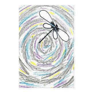 Artistic Dragonfly Canvas Print