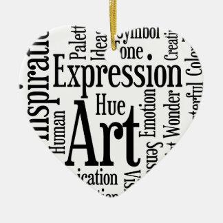 Artistic Expression for Artist or Creative Person Ceramic Ornament