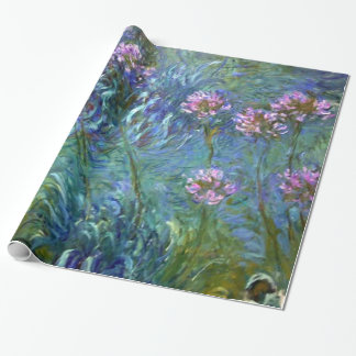 Artistic Fine Art Flowers by Monet Wrapping Paper