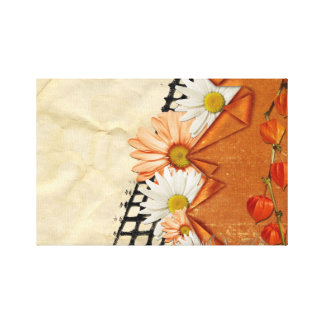 Artistic floral design canvas print