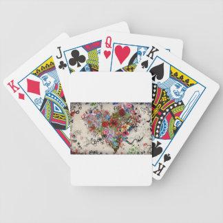 Artistic Floral Heart Valentine Poker Deck