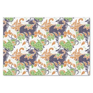 Artistic floral vines batik pattern tissue paper