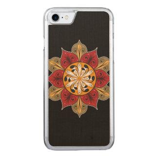 Artistic Flower Illustration Carved iPhone 7 Case