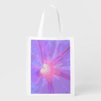 Artistic Flower Petal Texture Reusable Grocery Bag