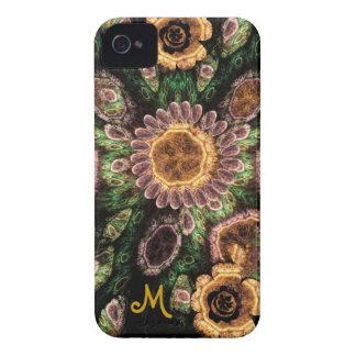 Artistic flowers & Monogram Blackberry bold case
