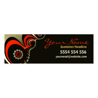 Artistic Flows Dark Profile Card Pack Of Skinny Business Cards