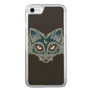 Artistic Fox (blue) Carved iPhone 7 Case