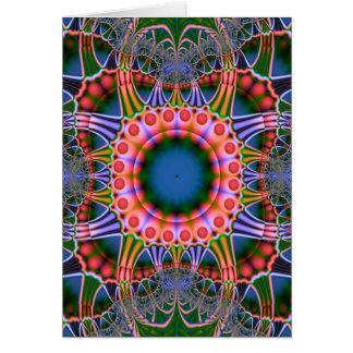 Artistic fractal card