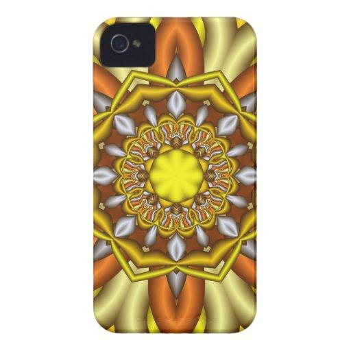 Artistic fractal Sunflower Blackberry bold case