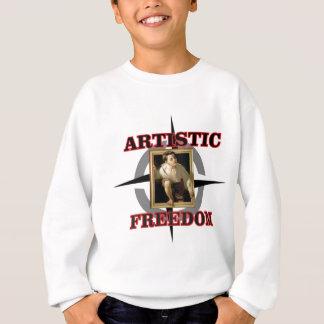 artistic freedom boy leaves sweatshirt