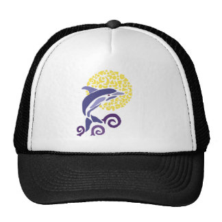 Artistic Fun Leaping Dolphin in the Moonlight Cap