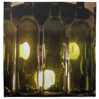 Artistic Funky Masculinev Wine Bottle Napkin