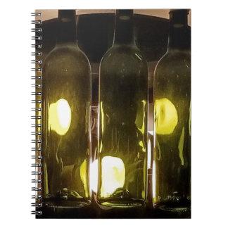 Artistic Funky Masculinev Wine Bottle Notebook