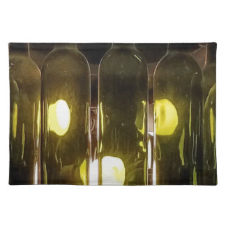 Artistic Funky Masculinev Wine Bottle Placemat