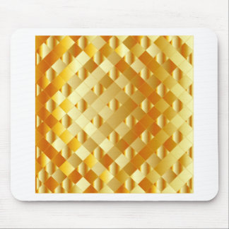 Artistic gold grid mouse pad