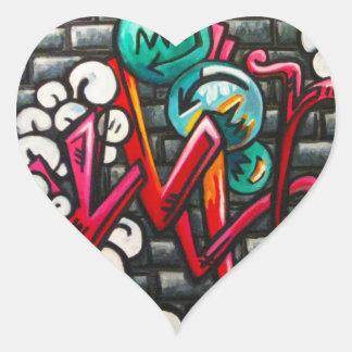 Artistic Graffiti Products Heart Sticker