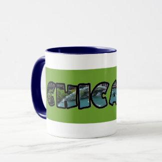 Artistic Green Chicago Emblem Coffee Mug