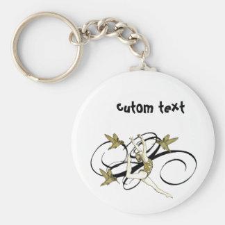 Artistic gym 2 basic round button key ring