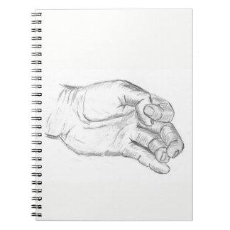 Artistic Hand Notebook