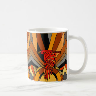 Artistic Hawk in Flight Art Deco Coffee Mug