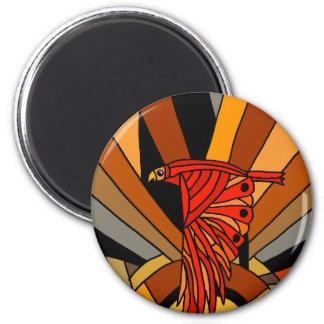 Artistic Hawk in Flight Art Deco Magnet