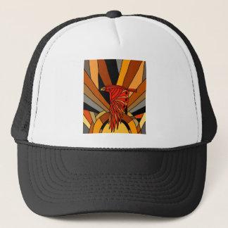 Artistic Hawk in Flight Art Deco Trucker Hat