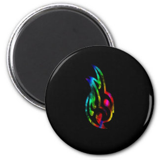 Artistic Head 6 Cm Round Magnet