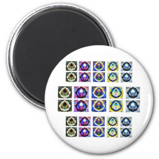 Artistic Holistic Havenly Graceful Pattern 6 Cm Round Magnet