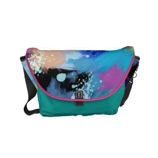 Artistic Hues Of Bright Abstract Watercolor Commuter Bags