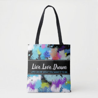 Artistic Hues Of Bright Abstract Watercolor Tote Bag