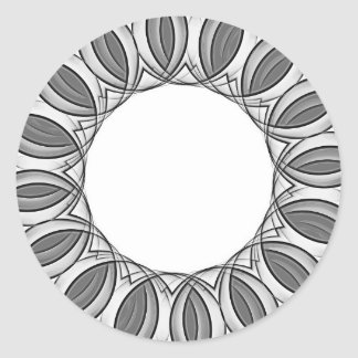 artistic kaleidoscope background classic round sticker