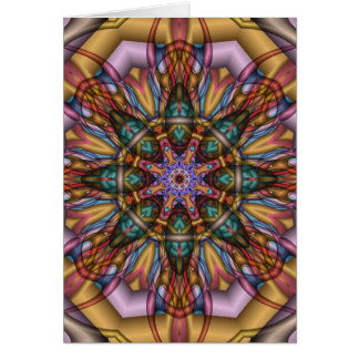 Artistic Kaleidoscope card without text