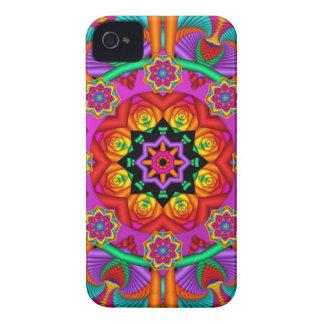 Artistic kaleidoscope / fantasy flowers iPhone 4 cases