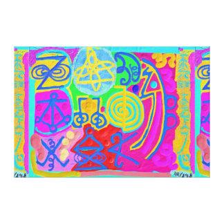 ARTISTIC : KARUNA REIKI Healing Symbols Stretched Canvas Print