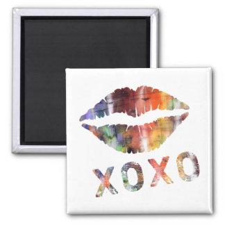 Artistic Kiss Square Magnet
