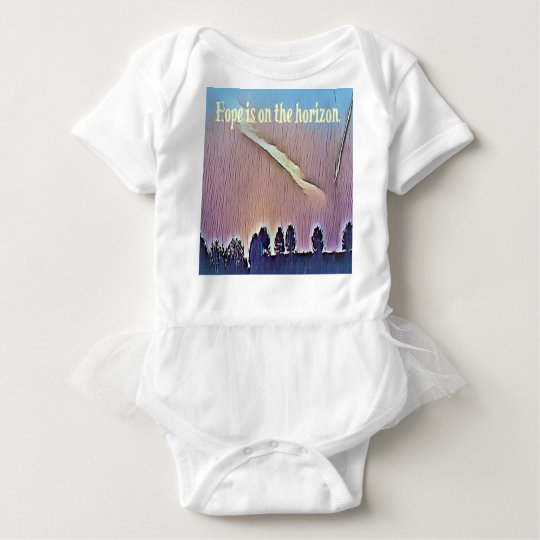 Artistic Landscape Hope On Horizon Quote Baby Bodysuit