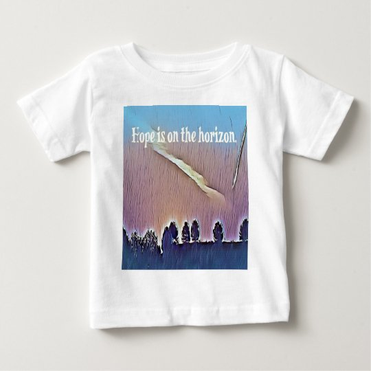 Artistic Landscape Hope On Horizon Quote Baby T-Shirt
