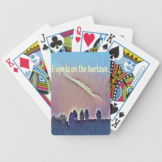 Artistic Landscape Hope On Horizon Quote Bicycle Playing Cards