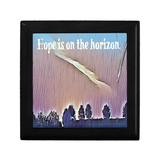 Artistic Landscape Hope On Horizon Quote Gift Box