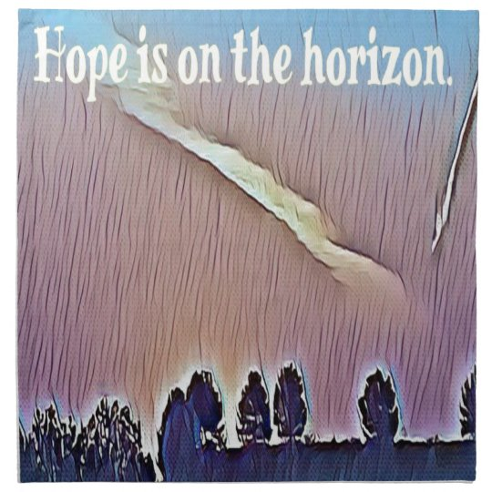 Artistic Landscape Hope On Horizon Quote Napkin