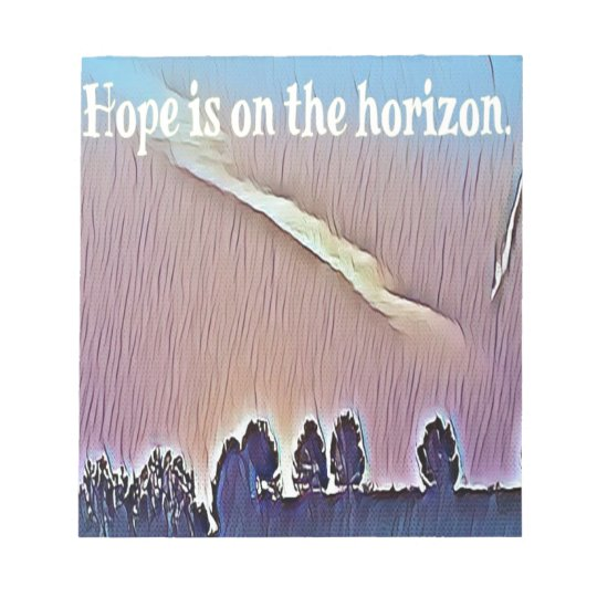 Artistic Landscape Hope On Horizon Quote Notepad